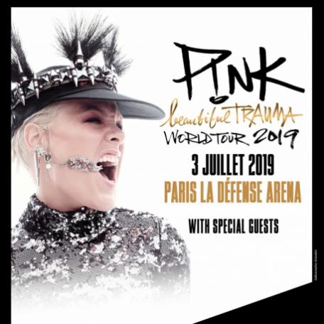 Concert Pink à Paris