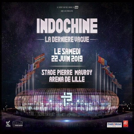 Concert Indochine in Lille